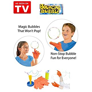 Mr. Gadget Solutions® High Quality and Improved Magic Bouncing Juggling Bubble Complete Kit - Catch, Pass & Bounce - Unlimited Fun For the Family - AS SEEN ON TV