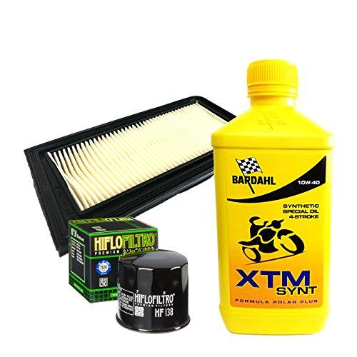 Kit tagliando Bardahl XTM Synt 10W40 filtro olio aria AN Burgman 650