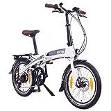 """NCM Lyon Bicicleta eléctrica Plegable, 250W, Batería Dentro del Cuadro 36V 8Ah 288Wh, 20"""""""