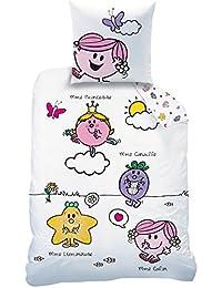 CTI 045061 MONSIEUR MADAME HAPPY LIFE Parure pout Enfant Coton Blanc 200 x 140 cm