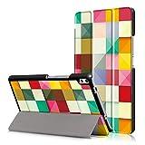 Honghushop PU Leder Hülle für Lenovo TAB4 8 Plus Klapphülle Flip Case Einfarbig Ledertasche Schutzhülle Stand Folio