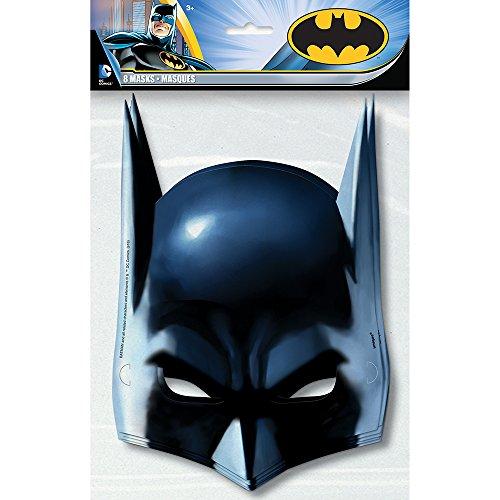 Unique 49921 Batman 8 Papp-Masken,16x23cm (Geburtstags-party Batman Themed)