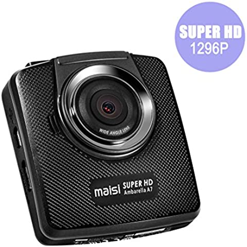 Ultra HD Dashcam, Maisi® Auto Scatola nera videocamera (5MP, 150-Degree