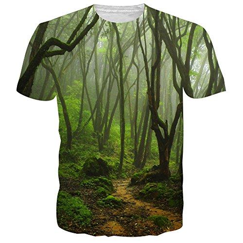 uideazone Mens 3D-Druck-Hipster Hemd mit Kurzen Ärmeln Lässige Graphics Tees Style-20