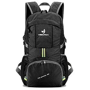 NEEKFOX Leichte Packable Reiserucksack Wanderrucksack, Tagesrucksack, 35L Faltbare Camping Rucksack, Utra leicht Outdoor…