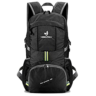 NEEKFOX Lightweight Packable Travel Hiking Backpack Daypack,35L Foldable Camping Backpack,Ultralight Outdoor Sport Backpack 18