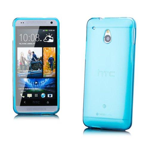 iCues HTC One Mini M4 |  Transparent TPU Case Türkis | [Display Schutzfolie Inklusive] Transparent Klarsichthülle Durchsichtig Klare Klarsicht Silikon Gel Schutzhülle Hülle Cover Schutz