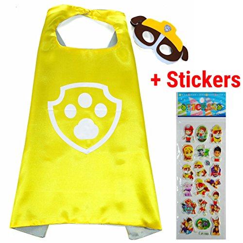 pe und Maske - Superhelden-Kostüme für Kinder - Kostüm für Kinder von 3 bis 10 Jahre - für Superheld Mottopartys! Spielsachen für Jungen und Mädchen - King Mungo - KMSC016 (Paw Patrol Kostüme Für Kinder)