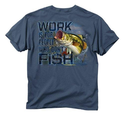Buck Wear Inc. Die Fisch nicht Short Sleeve Tee, unisex, indigo (Short Fisch Tee Sleeve)