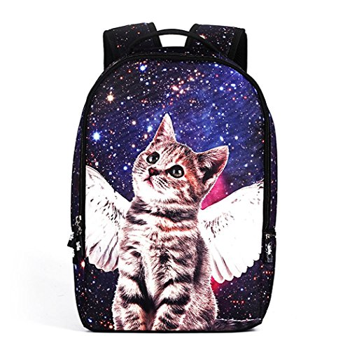 koson-man-womens-mens-personality-lovely-cat-beautiful-starry-school-backpack-travel-bagblue