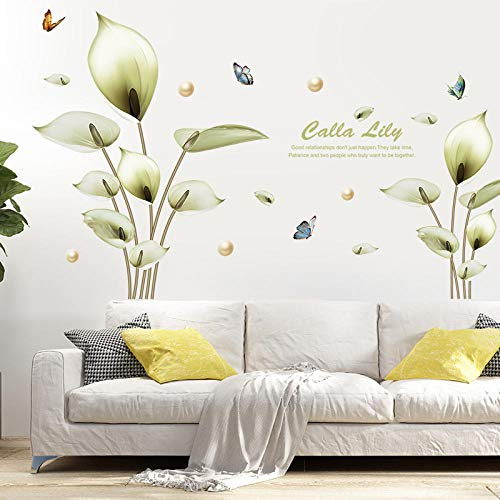 Wall Stickers,Murals,Diycartoon Wall Stickers_Xl8392 Green Martini Fresh Cartoon Wall Stickers Bedroom Living Room Background Decoration Removable Moderne Martini-gläser