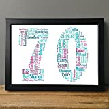 Best Birthday Gifts For All Birthday Gift For Dads - 70th Birthday UPK Gifts Personalised Print Gift, Review