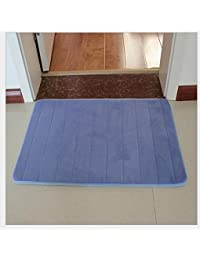 M-G-X - alfombra de baño, de cocina, antideslizante, absorbente, algodón, viscolátex, cachemir, color azul, tamaño 40*60cm