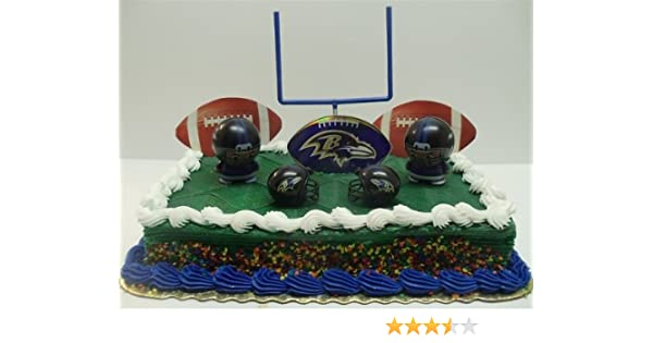 Astonishing Nfl Football Baltimore Ravens Birthday Cake Topper Set Featuring Birthday Cards Printable Opercafe Filternl