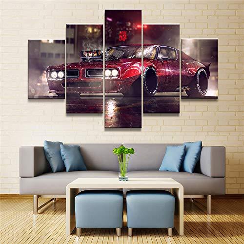 all Leinwand Flugzeug Leinwand Auto Leinwand Charakter Leinwand abstrakte Leinwand Landschaft Leinwand Wand Künstler Residenz Art Deco Leinwand Kunst 5 Stück 40x60 40x80 40x100cm ()