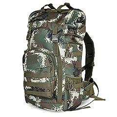Idea Regalo - COCO Zaino in nylon da trekking impermeabile all'aria aperta, borsa da alpinismo da viaggio per uomo e donna con camice da 50L di grande capienza