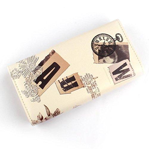 Geldbörse 1PC Blume Tower Muster Frauen lange Handtasche Kupplung Geldbeutel Tasche Karte Halter Tefamore (Kupplung Geldbörse Langen)