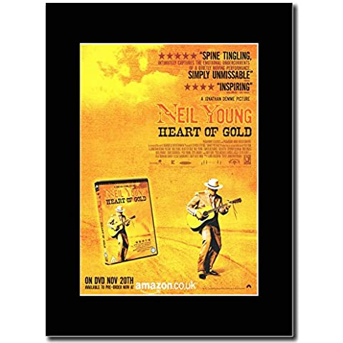 Neil Young - corazón de oro revista Promo en color negro