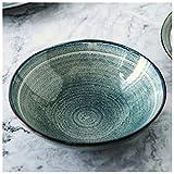 CJW Assiette plate Nordic Home Ceramics - Menu Steak/Dim Sum Ensemble de couverts de style occidental