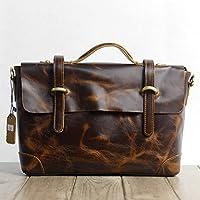 Inghilterra moda rétro messenger in pelle per portatile borsa borse a tracolla Borsa uomo borse,l'ruvida di colore marrone