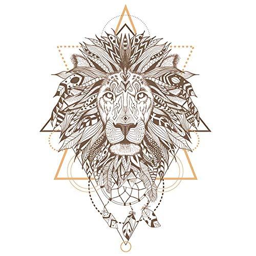Les Trésors De Lily [P5449 - Planche de Stickers 'Boho' (Lion) - 50x70 cm
