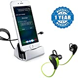 #5: Captcha Iphone Charge and Sync with Lightning Cable Connector Dock Charger Compatible With Apple iPhone 5/5s/5se/6/6s/6s plus/7/7 plus & iPad, With Bluetooth 4.1 Wireless Stereo Headset Jogger Hi-fi Sound With Hands-free Calling (1 Year Warranty)