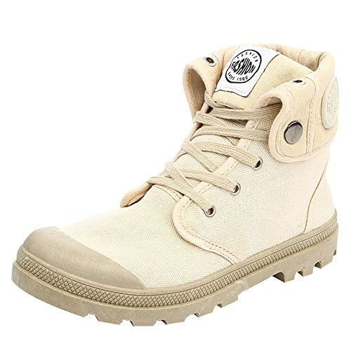 S&H-NEEDRA Frauen-Stiefel Palladium-Art-Art- und Weise High-top Militär-Knöchel beschuht beiläufige Schuhe