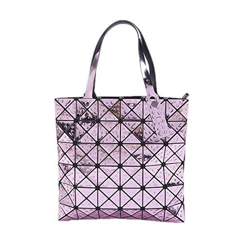 Gefaltete Frauen Taschen Geometrische Plaid Luxus Handtaschen Berühmte Laser Taschen Designer Große Einkaufstasche Damen Abendtaschen 2