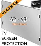 42-43-Zoll- Anti-Glanz-Vizomax - TV-Bildschirmschutz für LCD, LED oder Plasma-TV. Fernseher-Displayschutz. TV-Bildschirm-Schutz