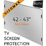 42 pouces Vizomax non-éblouissant Protecteur d'écran pour télévision pour LCD, LED at Plasma TV. Téléviseur Protège-écran