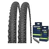 Mitas Set: 2 x Scylla Fahrrad MTB Reifen 24x1.90/50-507 + SCHLÄUCHE Dunlopventil