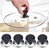 WCIC 4 Stück Deckelknopf Topfdeckel Deckel Knopf Griff, Küche Ersatz 6-10mm Kochgeschirr Deckel Halter