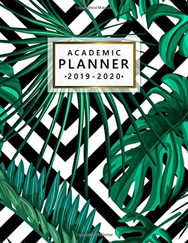 Academic Planner 2019-2020: Weekly Monthly Academic Planner Calendar Organizer with At A Glance Vision Boards, Notes, Course Schedule, To-do's, Inspirational Quotes - Geometric Tropical Print (Planer Board-clips)
