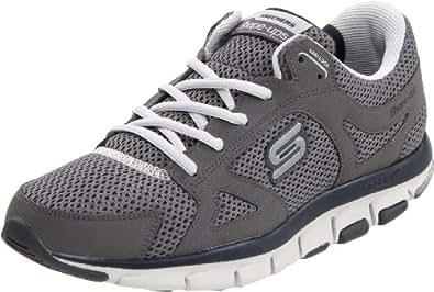 Skechers Liv-Smart 52200 BKGY, Sneaker uomo, Grigio (Grau (CCNV)), 41