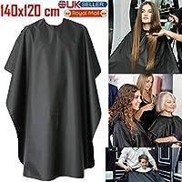 Walgreen® Barber Apron Cape Gown Black Hair Cutting Salon Hairdressing Waterproof Unisex