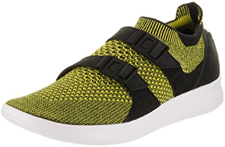 Zapatillas de running Nike para mujer Air Flyknit Flyknit negras / blancas amarillas 5.5 Mujeres EE. UU.