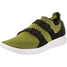 brand new 87762 78f47 Zapatillas de running Nike para mujer Air Flyknit Flyknit negras   blancas  amarillas 5.5 Mujeres EE