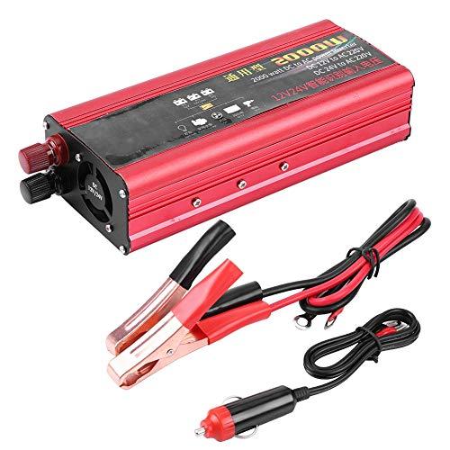 Duokon 2000W Auto Power Inverter USB Ladegerät Konverter Adapter modifizierte Sinus DC 12V / 24V zu AC 220V Ac Power Inverter Ladegerät