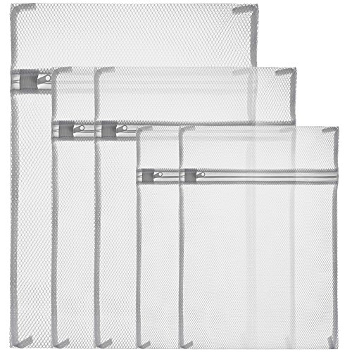 zacro-laundry-bags-white-zippered-mesh-washing-bags-set-of-5-small-2-medium-2-large-1