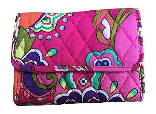 Vera Bradley Euro Wallet (Pink Swirls (with solid pink interior lining)) (Euro-swirl)
