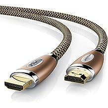 Primewire - 2m cable de HDMI - Ultra HD 4k HDMI | Alta velocidad con Ethernet | 4K Ultra HD 2160p / 3D / ARC y CEC | Cable de blindaje triple + blindaje de conector y contactos | cobre
