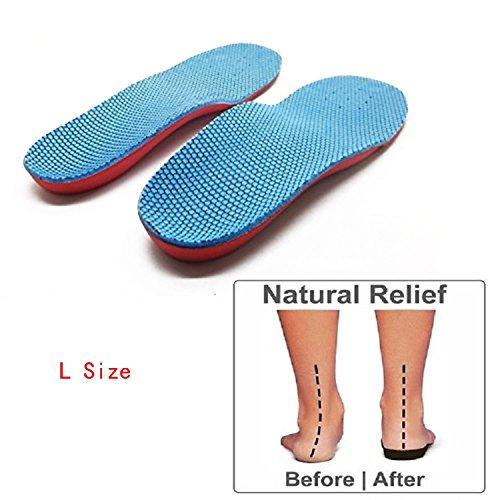 Supporto dell'arco plantare piede piatto piede piatto correzione piede dolore sollievo sottopiede del pattino per bambini Kids L dimensione 20.5-22.8cm