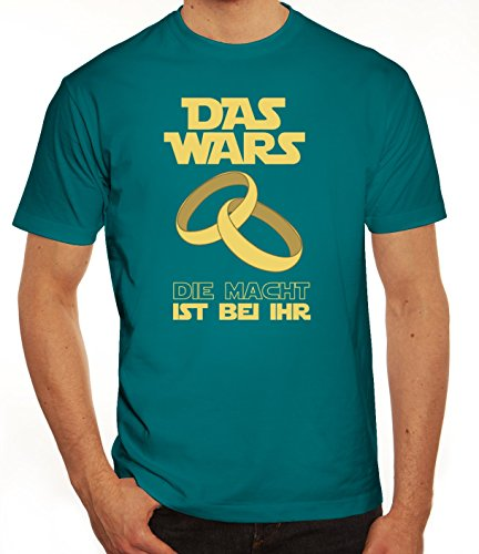 Junggesellenabschieds JGA Hochzeit Herren T-Shirt Das Wars - Die Macht ist bei ihr Diva