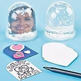 Baker Ross Blanko-Schneekugeln für Kinder zum Verzieren und als Kleines Geschenk (4 Stück)