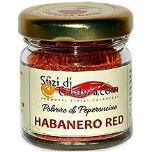 HABANERO RED SAVINA Polvere Peperoncino Puro PICCANTE MEDIO Il Più Piccante degli Habanero, VASO VETRO 15g Prodotto in Calabria