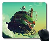 Custom Gaming Mouse Pad with Howl Moving Castle Anime Art Illust Non-Slip Neoprene Rubber Standard Size 9 Inch(220mm) X 7 Inch(180mm) X 1/8 Inch(3mm) Desktop Mousepad Laptop Mousepads Comfortable Computer Mouse Mat