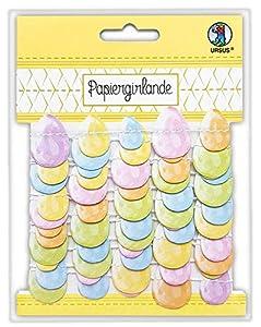 Ursus 56280000F - Guirnalda de Papel de Colores (2,5 m, 300 g/m², con Huevos de Pascua Impresos por Ambos Lados)