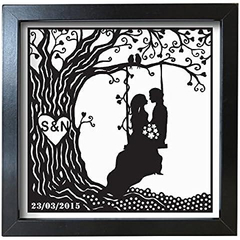 Personalizzabile coppia su altalena Frosted cornice matrimonio,