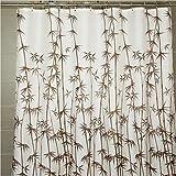 """xie @ resistente al agua cortina de ducha marrón bambú gamuza de impresión de grosor W71""""* l79"""", marrón, 71*79in"""