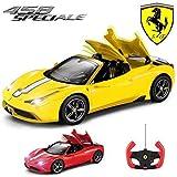 Comtechlogic CM-2201 Offiziell Lizenziert 1:14 Ferrari 458 Italia Speciale Spinne Ferngesteuert RC ElectricCar mit Voll ferngesteuert Dach Mechanismus - Bereit Zum Rennen EP RTR - Gelb
